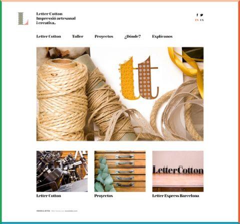 Letter Cotton la flexibilidad del diseño adaptado a nuestras plantillas.